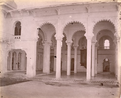 The Khush Mahal (pillared hall) in the City Palace, Udaipur